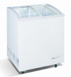 Curved Glass Door Chest Freezer